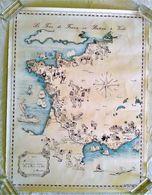 AFFICHE ANCIENNE ORIGINALE TOURISME PREMIER TOUR DE FRANCE EN BATEAU A VOILE 1978 Illustration B. Hennebert - Afiches