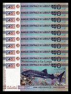 Djibouti Lot Bundle 10 Banknotes 40 Francs Commemorative 2017 Pick 46 SC UNC - Djibouti