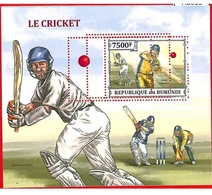 Burundi Souvenir Sheet Ms Cricket Major Perf Errors Australia Adam Gilchrist - Burundi