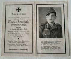 Faire Part De Décès Allemand Ww2 - 1939-45