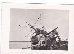 PHOTO ORIGINALE 39 / 45 WW2 MARINE FRANCAISE DAKAR LE CONTRE TORPILLEUR AUDACIEUX APRES SON COMBAT  23 SEPT 1940 - Guerre, Militaire