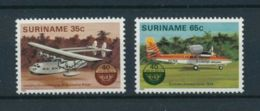 Suriname, 1984, ICAO, Airplanes, United Nations, MNH, Michel 1080-1081 - Suriname