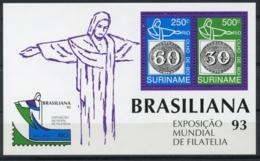 Suriname, 1993, Brasiliana Stamp Exhibition, MNH, Michel Block 60 - Surinam