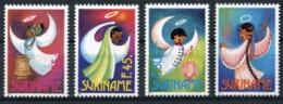 Suriname, 1993, Christmas, Angels, MNH, Michel 1457-1460 - Surinam