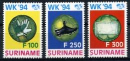 Suriname, 1994, Soccer World Cup USA, Football, MNH, Michel 1478-1480 - Surinam