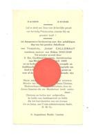 BUKEN - Jubelfest Van Theofiel Jozef CALLEBAUT, Pastoor - 1899 / 1949 - Souvenir Des 50 Ans De Prêtrise - Devotieprenten