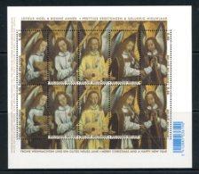 BE   ---   F3589 - 3593  XX    ---   Noël / Nouvel An : Anges Musicierns / H. Memling    --  Excellent état - Panes