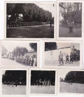 PHOTO DEFILE MILITAIRE DOLE JUILLET 1947 CASERNE PHOTO BIGNON 7 PHOTOS - Guerre, Militaire