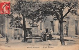 CPA Gréoulx-les Bains - La Grande Fontaine - Gréoux-les-Bains