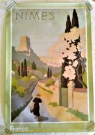 BELLE AFFICHE NÎMES De A. Petit, éditée Par L'Office Du Tourisme De Nîmes, Retirage D'une Affiche De 1934 - Afiches