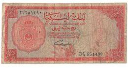Libya 1/4 Pound 1963 .J2. - Libia