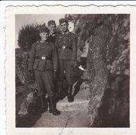 PHOTO ORIGINALE 39 / 45 WW2 WEHRMACHT FRANCE ÎLE DE RÉ SOLDATS ALLEMANDS SUR LA COTE - Guerre, Militaire