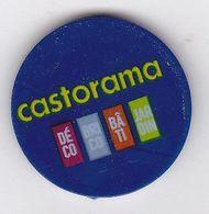 Jeton De Caddie En Plastique - Castorama - Grande Surface De Bricolage - Revers 1€ - Trolley Token/Shopping Trolley Chip