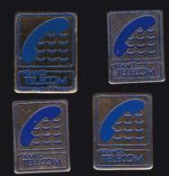 65974-Lot De 4 Pin's- France-telecom.Orange.Telephone.. - France Telecom