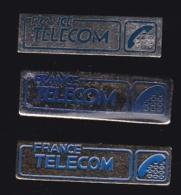 65975-Lot De 3 Pin's- France-telecom.Orange.Telephone.. - France Telecom