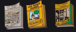 65976-Lot De 3 Pin's- France-telecom.Orange.Telephone.. - France Telecom