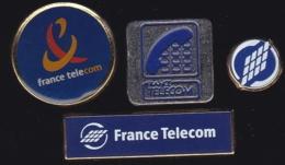 65977-Lot De 4 Pin's- France-telecom.Orange.Telephone.. - France Telecom