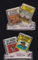 65982-Lot De 2 Pin's- France-telecom.Orange.Telephone.DO Nancy. - France Telecom