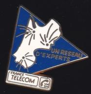 65989- Pin's- France-telecom.Orange.Telephone.signé Tosca. - France Telecom