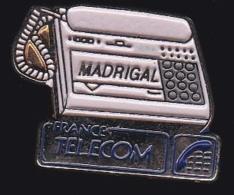 65992- Pin's- France-telecom.Orange.Telephone.Madrigal. - France Telecom