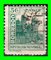 CÁDIZ - DIPUTACIÓN PROVINCIAL 5 C. VERDE ESPAÑA 1938 - Impuestos De Guerra