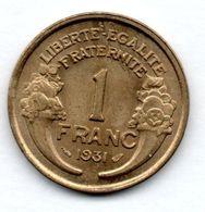 1 Franc 1931 / SUP+ - H. 1 Franc