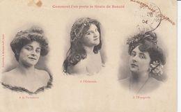 Carte Fantaisie - Illustrateur BERGERET - Comment L'on Porte Le Grain De Beauté - Zonder Classificatie