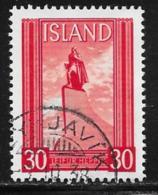 Iceland Scott #B6a Used Lief Ericsson Statue, From S/S, 1938 - Gebruikt