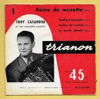 Disque Vinyle 45 Tours : TONY CASANOVA : 4 Titres..Scan B : Voir 2 Scans - Instrumental