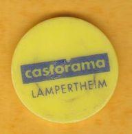 Jeton De Caddie En Plastique - Castorama Lampertheim (67) - Grande Surface De Bricolage - Trolley Token/Shopping Trolley Chip