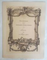 PROGRAMME - Ministere Des Affaires Etrangeres - Soirée Du 2 Juin 1912 En L'honneur De La Reine Wilhelmine PAYS-BAS - Programme