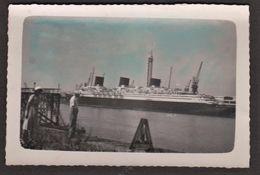 """LE HAVRE - Photo Originale Paquebôt """"Normandie"""" Tour De Marée En 1935_ Compagnie Générale Transatlantique _French Line - Bateaux"""