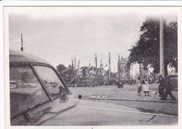 PHOTO ORIGINALE 39 / 45 WW2 WEHRMACHT FRANCE LA ROCHELLE VUE SUR LES QUAIS - Guerre, Militaire