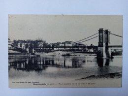 MARMANDE - Pont Suspendu Sur La Garonne Et Les Quais. - Marmande