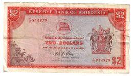 Rhodesia 2 Dollars 20/01/1975 .J2. - Rhodesia