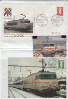 LOCOMOTIVE ELECTRIQUE SNCF BB 22405 ASS DES CHEMINOTS TELECARTISTES DU DEPOT DE NICE TIRAGE 1000ex - Trains