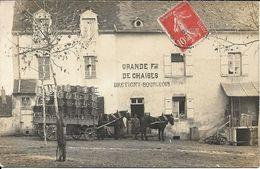PERRECY LES FORGES ? Carte Photo Fabrique De Chaises BRETIGNY BOURGEOIS - France