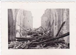 PHOTO ORIGINALE 39 / 45 WW2 WEHRMACHT FRANCE STONNE LES RUINES DE L EGLISE APRES LA BATAILLE DE MAI 1940 - Guerre, Militaire