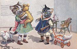 Arthur Thiele  Signe Cat Chat  KatzeTeddy Bär Poupee Hunter Serie 474  Old Cpa. 1915 - Thiele, Arthur