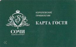 RUSSIA - Casino Sochi, Member Card, Used - Casino Cards