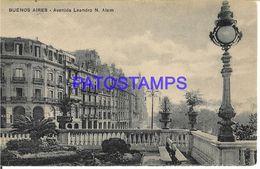 137797 ARGENTINA BUENOS AIRES AVENIDA LEANDRO N. ALEM POSTAL POSTCARD - Argentine