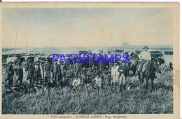 137798 ARGENTINA BUENOS AIRES COSTUMES VIDA CAMPESTRE POSTAL POSTCARD - Argentine