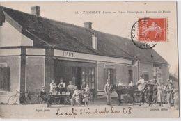 CPA  Toisley (27) Rare Place Principale Belle Animation Devant Le Café épicerie Mercerie Et Le Bureau De Poste Ph Piquet - France