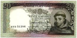 20 Escudos - Ch. 7 - 26.05.1964 - Sign. 1 - Serie AVB - Unc. - Santo António - Portugal - Portugal