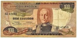 Angola - 100 Escudos - 24.11.1972 - Pick 101 - Série AD - Marechal Carmona - PORTUGAL - Angola