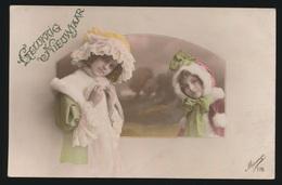 2 MEISJES       CARTE PHOTO   FOTOKAART - Enfants