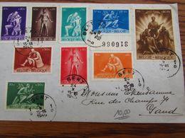 Belgique Série N° 70à 709 Complète Sur Lettre De GENT 1 Pour Idem En 1945 - Interi Postali