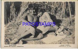 137803 ARGENTINA CHACO COSTUMES NATIVE INDIGENA SEMI NUDE POSTAL POSTCARD - Argentine