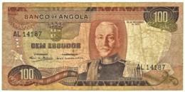 Angola - 100 Escudos - 24.11.1972 - Pick 101 - Série AL - Marechal Carmona - PORTUGAL - Angola