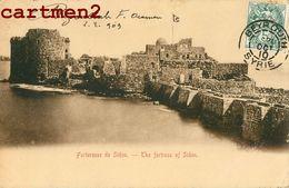 LIBAN FORTERESSE DE SIDON BEYROUTH LEBANON BEIRUT MOYEN-ORIENT 1900 - Lebanon